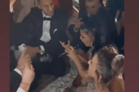 """VIDEO/ """"Leku letër"""" në dasmën e Rudinës dhe Mark Frrokut"""