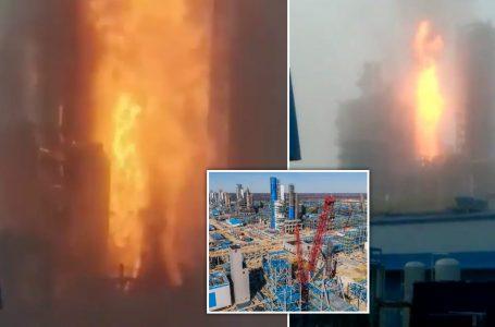 VIDEO/Shpërthen rafineria e gazit, flakët dhe tymi pushtojnë zonën përreth